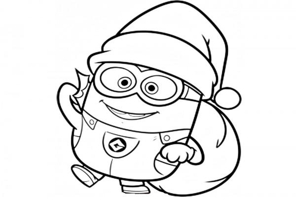 Dibujos Para Colorear De Papa Noel En Su Trineo