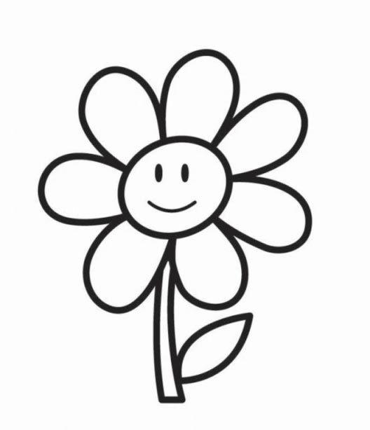Dibujo De Flores Faciles A Color Unas Francesas Decoradas