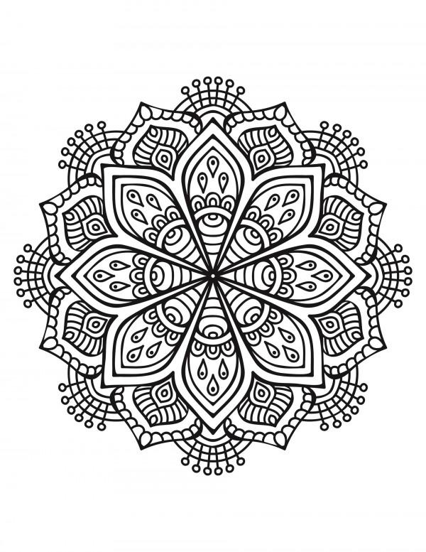 Imagenes De Mandalas Para Colorear Faciles Y Bonitas