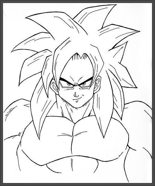 Imagenes De Goku Para Dibujar A Color Faciles