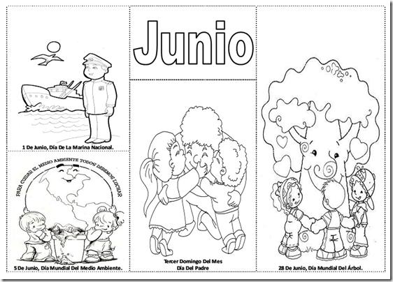 Imgenes Del Mes De Junio Dibujos Para Colorear
