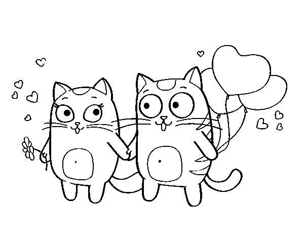 Dibujo De Gatitos Kawaii Para Colorear Dibujos Para