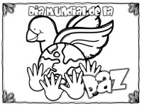 Imgenes para colorear dibujos del Da de la Paz ...