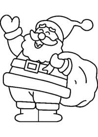 Dibujos Navideos de Papa Noel para colorear e imprimir