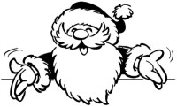 Dibujos Navideos de Papa Noel para colorear e imprimir ...