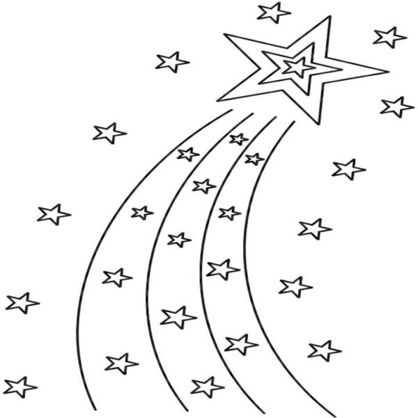 Top Five Estrella Fugaz De Navidad Para Colorear Circus