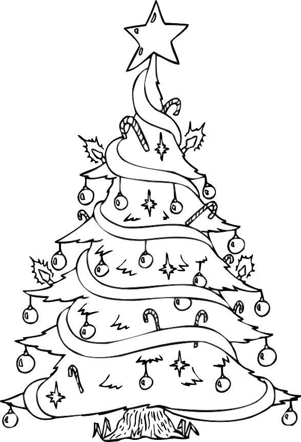 Pinos de Navidad para colorear, descargar e imprimir