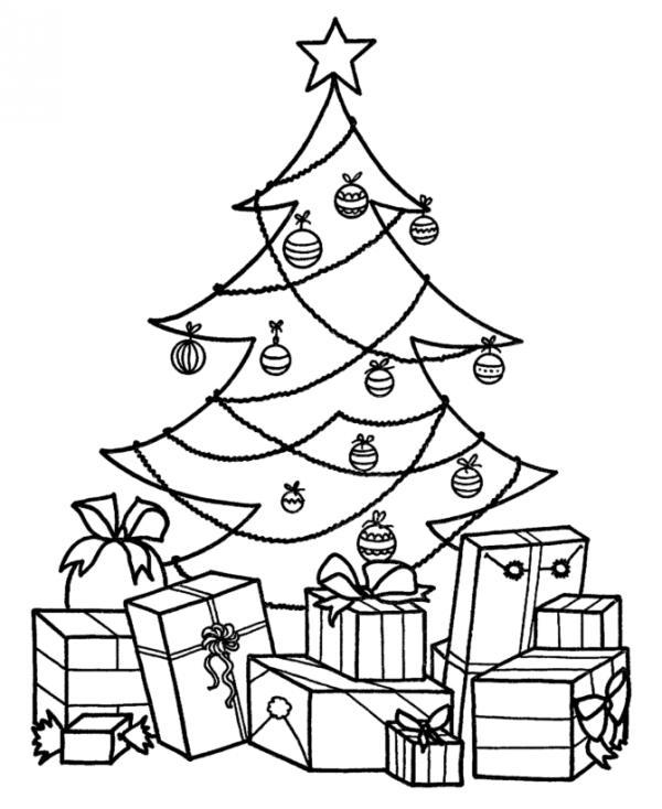 Dibujos Para Colorear De Un Pino De Navidad