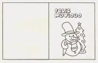 Tarjetas De Navidad Para Colorear E Imprimir Para Niños