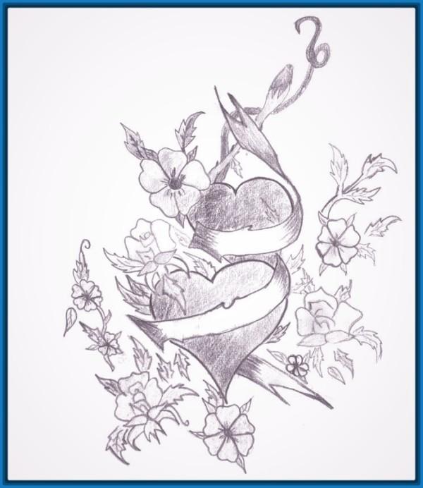Imagenes De Amor Para Dibujar A Lapiz Faciles Kawaii