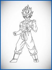 Dibujos Para Colorear De Dragon Ball Z Gogeta Dragon