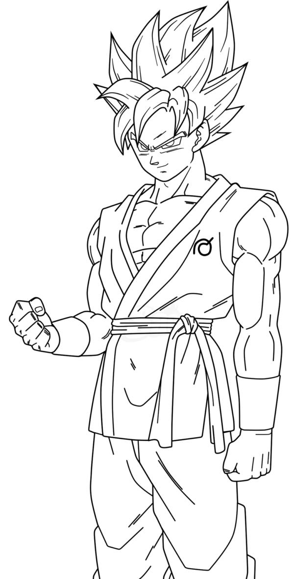 Dibujos de Dragon Ball Z, Goku y Vegeta para colorear