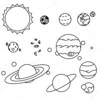 Dibujos del Sistema Solar y sus Planetas para colorear ...