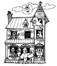 Casas Halloween Para Colorear Dibujos Infantiles De Halloween