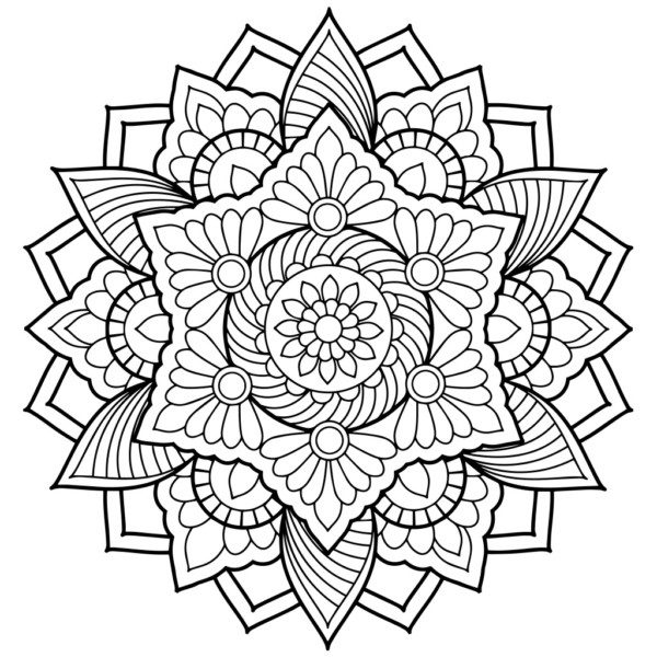 Dibujos de MANDALAS para Colorear (Fáciles y Difíciles