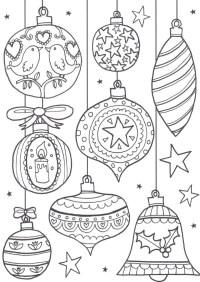 Bolas de Navidad para colorear | +40 Dibujos | Colorear ...