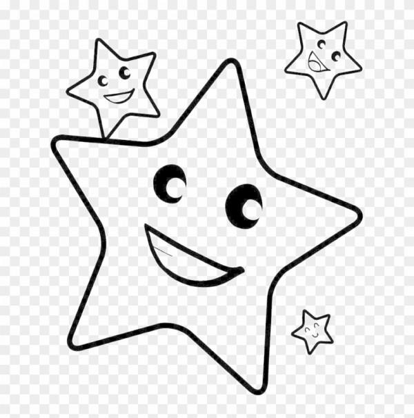 Imprime este bonito dibujo de una estrella para que los niños pasen un buen. Dibujos de Estrellas de Navidad para colorear ★ Imágenes