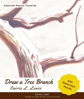 Draw a Tree Branch with Watercolor Pencils Cover