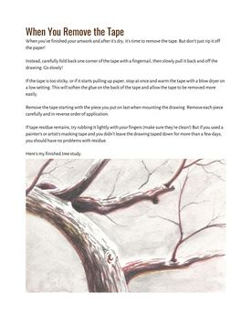 How to Draw a Tree Branch with Watercolor Pencils