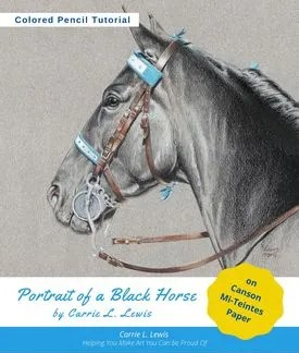 Portrait of a Black Horse Tutorial Cover