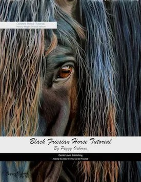 Black Friesian Horse Tutorial Cover