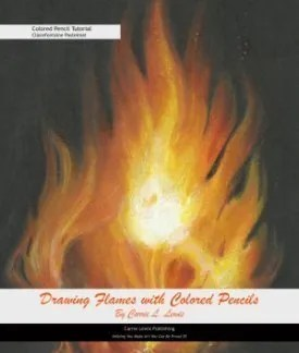 Drawing Flames with Colored Pencils