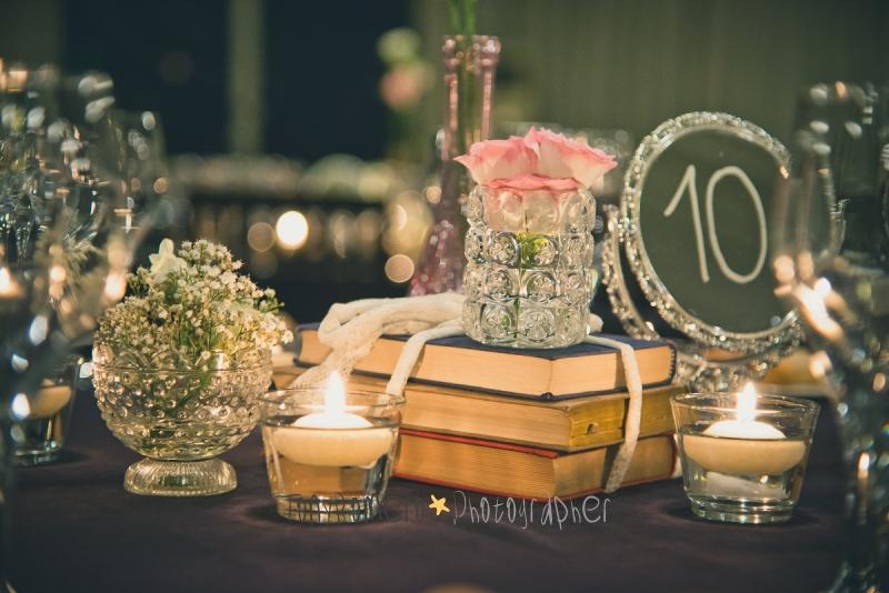 Centros De Mesa De Espejo En Flores Para El  soy la novia