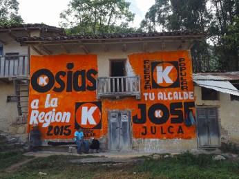Orange im Grossen, Häuser werden als Wahl-Werbefläche benutzt