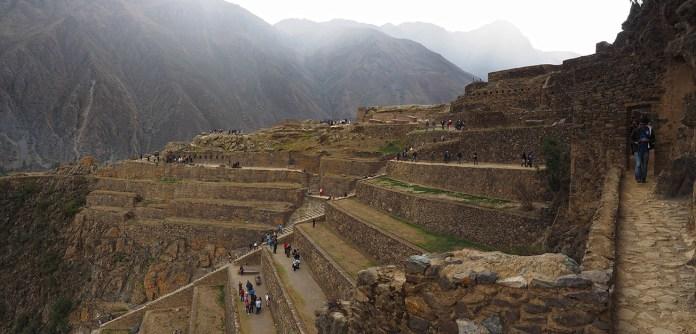 Blick auf die Terrassen von Pumatallis