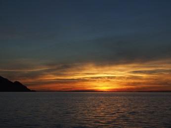 Sonnenuntergang beim Lago Llanquihue