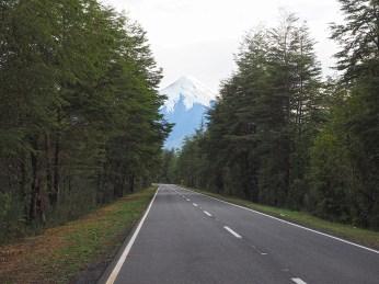Der Osorno verschwindet im Rückspiegel