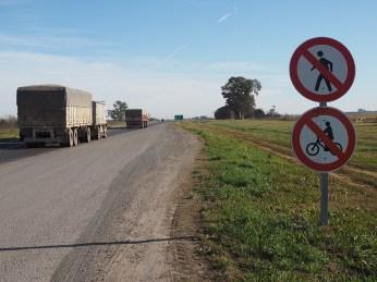 Fahrräder verboten. Oder so.