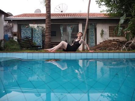 Mein temporäres Haus mit Pool!