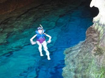 Mit Sicht unter und über Wasser