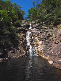 Das erste Bad des Tages in der Cachoeria do Funil