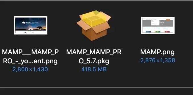 MAMPダウンロードパッケージ画像