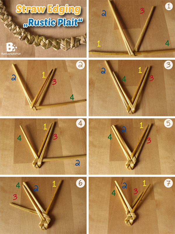Straw Plaiting – Rustic Plait (Tyrolean Plait)