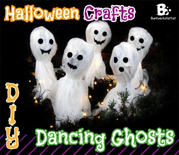 Dancing Ghosts – Halloween Crafts for kids
