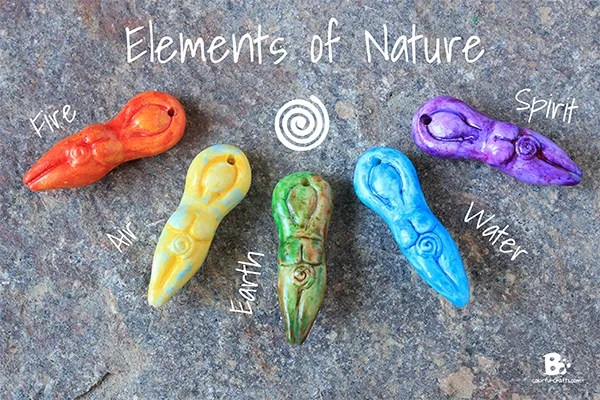 Polymer Clay Elements of Nature