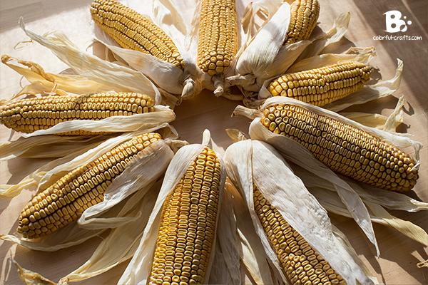 easy corn wreath DIY