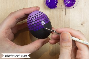Tutorial: How to paint easter eggs - dotpainting color gradient