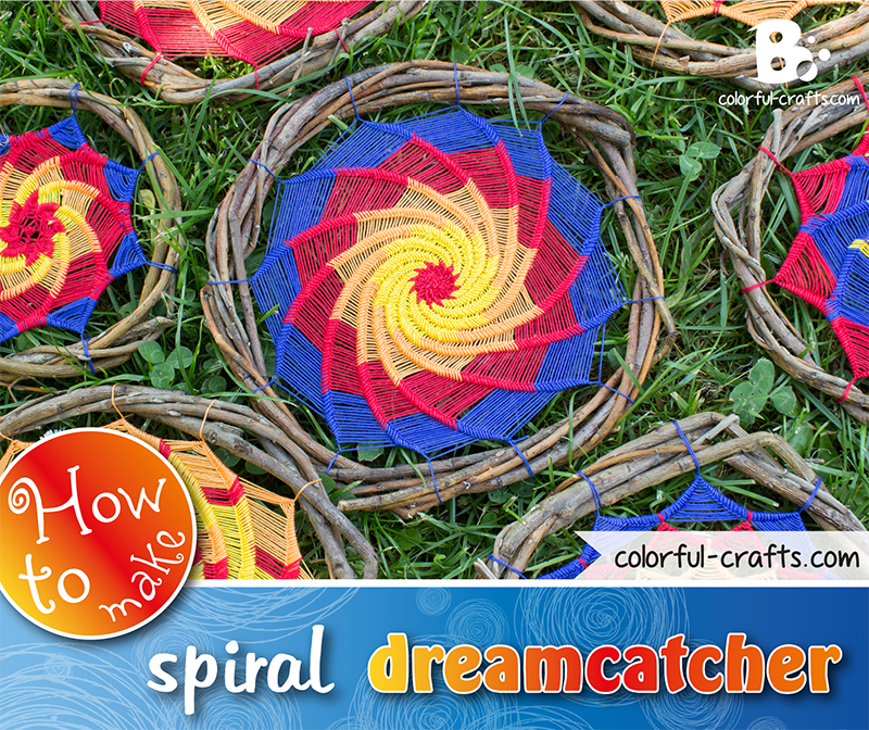 How to make a spiral dreamcatcher