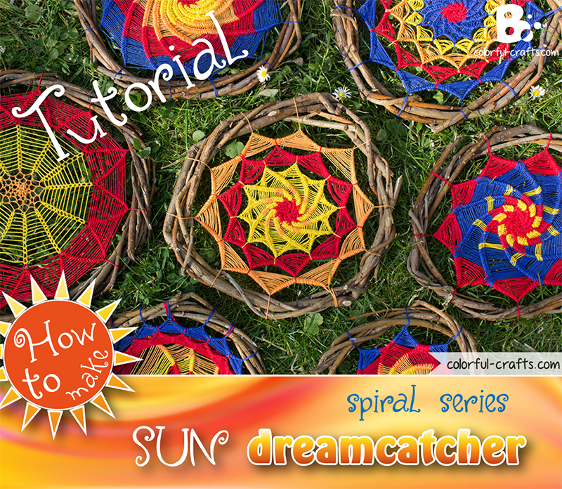 How to make a sun dreamcatcher – spiral series