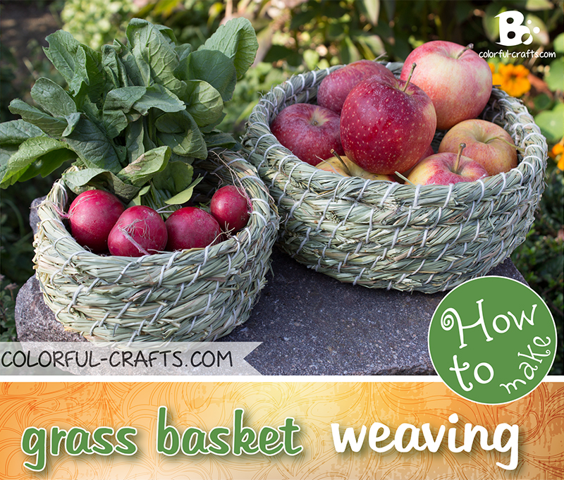 How to weave a simple grass basket
