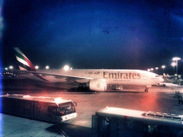 Emirates auf dem Flughafen von Dubai