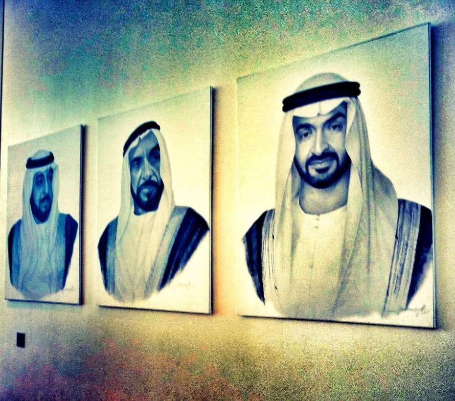 Die drei Herrscher von Abu Dhabi