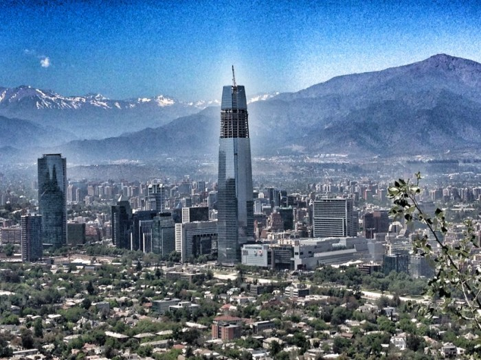 Blick auf Santiago