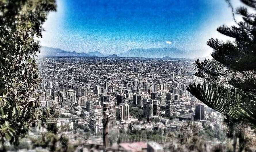 Schöne Aussichten auf Santiago de Chile