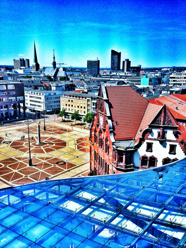 Blick aus dem Stadthaus