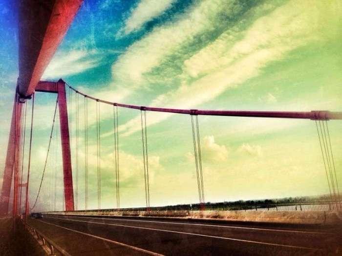 Niederrhein-Brücke bei Wesel